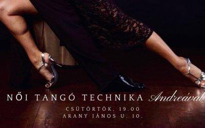 Women's Tango Technique class every week